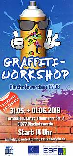 Graffiti-Workshop des Soziokulturellen Zentrums Sport